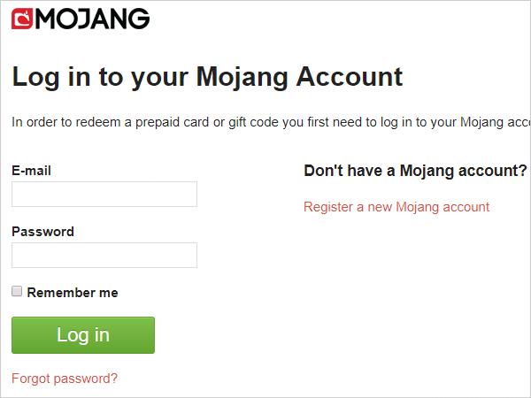 Mojang公式サイト