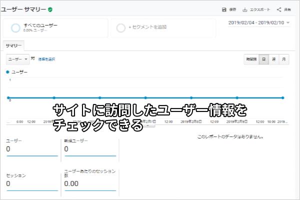 サイトに訪問したユーザー情報をチェックできる