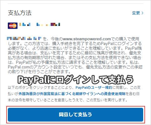 PayPalにログインして支払う
