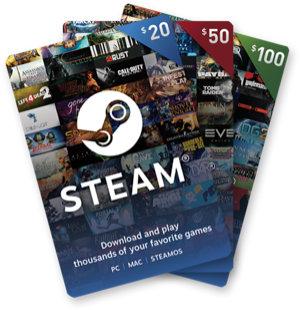 Steamプリペイドカード