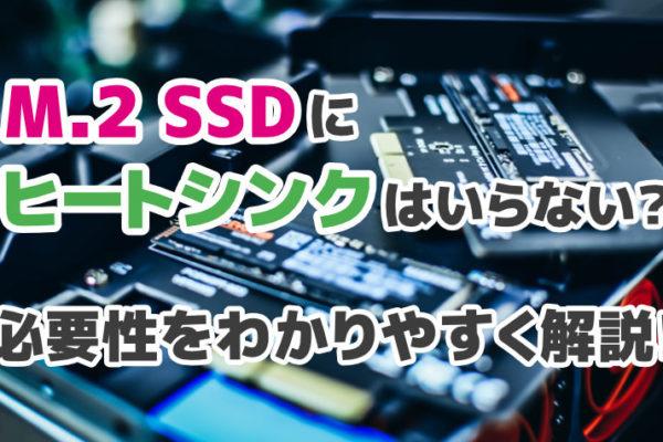 M.2 SSDにヒートシンクはいらない?必要性をわかりやすく解説!