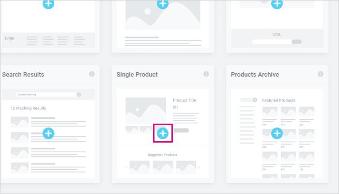 「Single Product」のパーツを作成